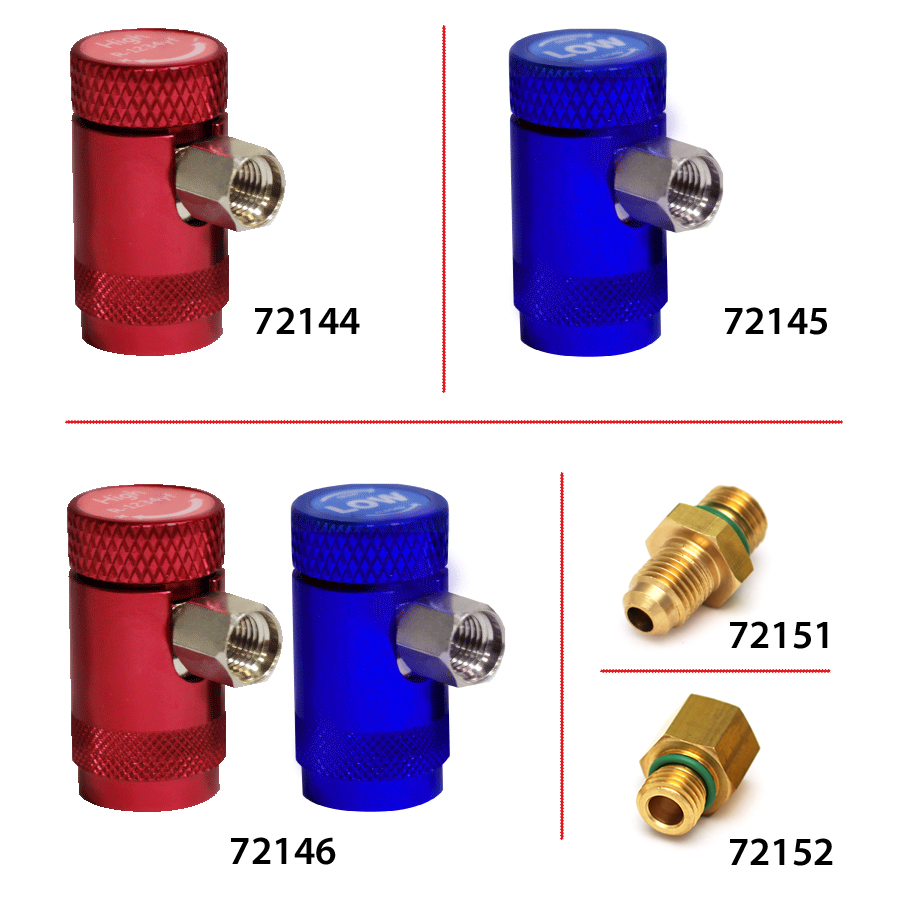 R1234yf SERVICE COUPLERS AND FITTINGS